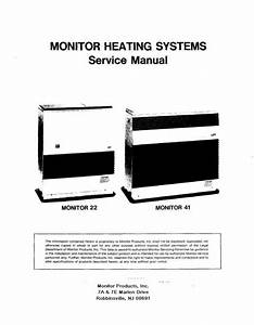 Monitor Heating Systems Service Manual