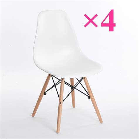 chaises blanches design chaises cuisine blanches amnager un coin repas dans le