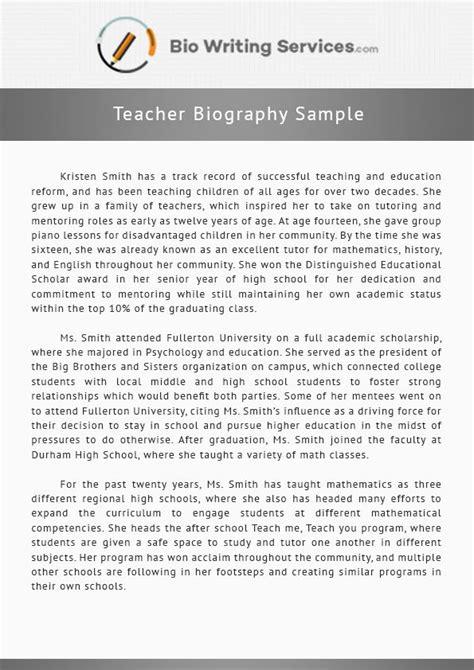 view  teacher biography sample    inspiration