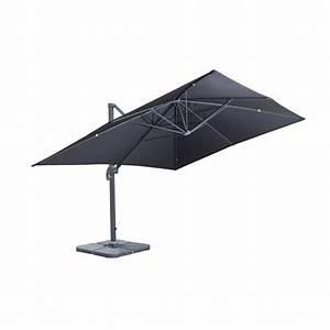 Parasol Inclinable Rectangulaire : parasol rectangulaire inclinable ~ Teatrodelosmanantiales.com Idées de Décoration
