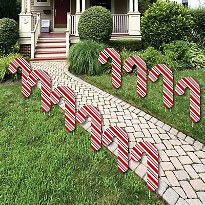 plastic candy cane yard decorations lawn decorations outdoor and yard decorations 10