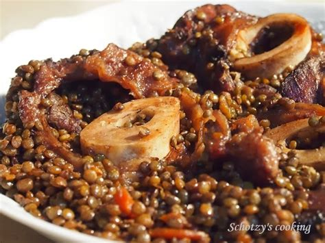 cuisiner un jarret de boeuf jarret de boeuf à la bourguignonne et lentilles par schotzy