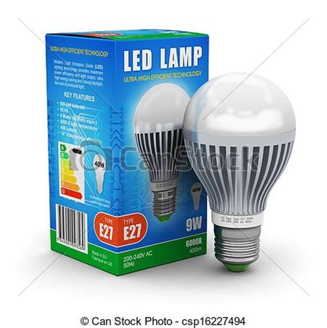 stock photographs of led l with package box creative