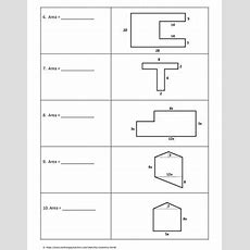 Geometry Worksheet Area Of Composite Figures By My Geometry World