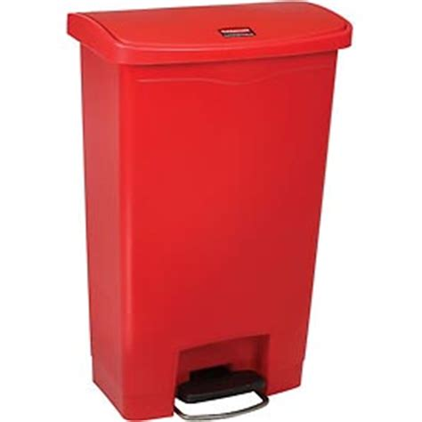 garbage can recycling hands free rubbermaid 174 slim
