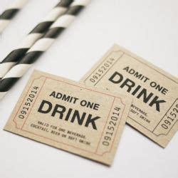personalise admit  drink ticket printable template