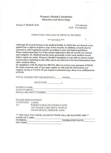 medical records invoice invoice template ideas