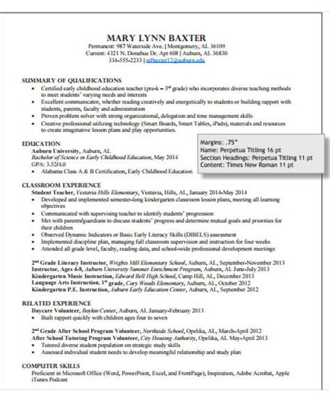 modern teacher resume templates