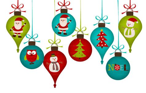 christmas decorations clip art for by tracyanndigitalart
