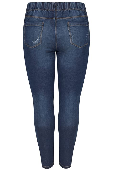 D Link Best Buy Blue Rip Repair Jeggings Plus Size 16 To 36