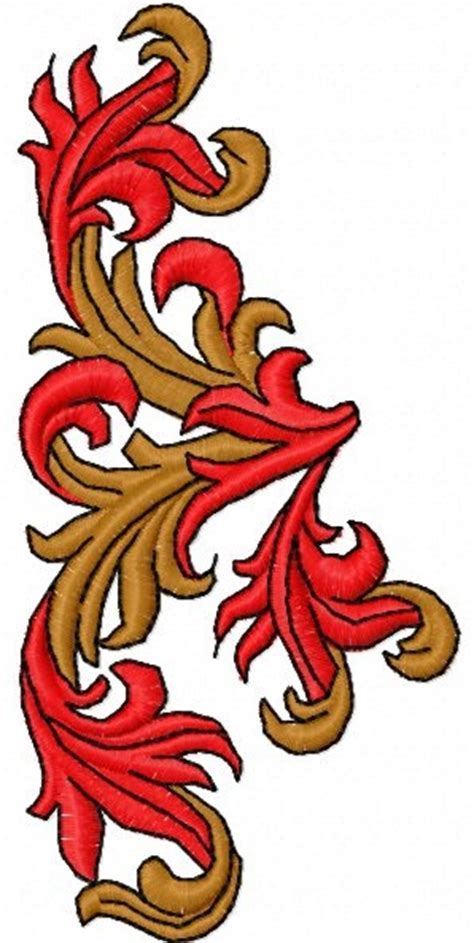 Advanced Embroidery Designs   Mountain Sage Decorative Motif