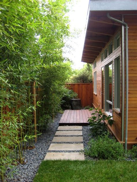 backyard bamboo small garden design ideas asian style bamboo trees stones side yards pinterest gardens