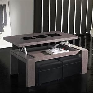 Table Alinea Bois : table basse relevable teck ~ Teatrodelosmanantiales.com Idées de Décoration