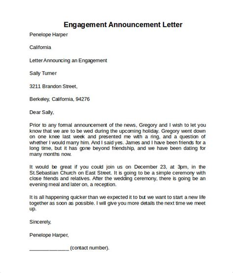 Engagement Letter Template by Engagement Letter 9 Free Documents In Pdf