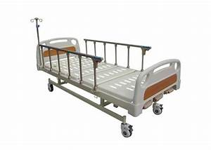 Coated Steel Manual Crank Medical Hospital Bed With