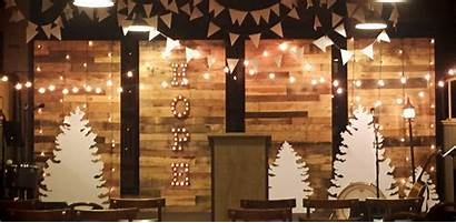 Stage Church Christmas Walls Decorations Pallet Wall