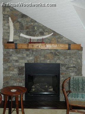 buy handmade fireplace mantel  metal straps