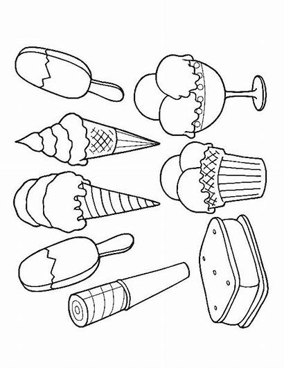 Ice Cream Coloring Pages Colouring Printable Sandwich