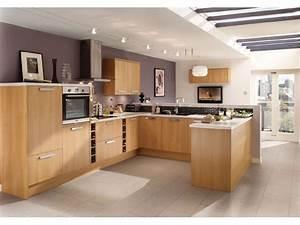 Cuisine équipée Bois : cuisine quip e ou am nag e cuisine en image ~ Premium-room.com Idées de Décoration