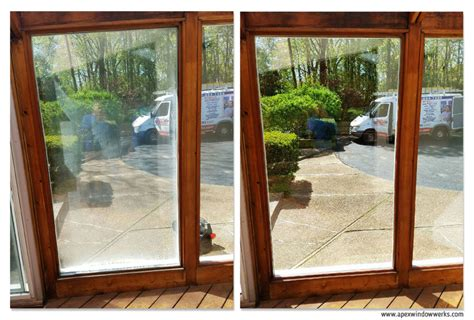 before and after foggy patio door glass replament