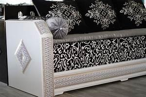 Salon Marocain Blanc : salon marocain royal pas loin de nimes ~ Nature-et-papiers.com Idées de Décoration