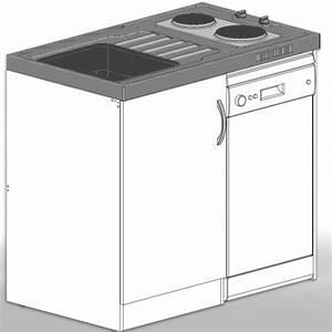 Miniküche Mit Spülmaschine : singlek che minik che mit 45 cm geschirrsp lmaschine a ~ Watch28wear.com Haus und Dekorationen