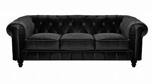 Canape convertible chesterfield velours canape idees for Canapé convertible velours