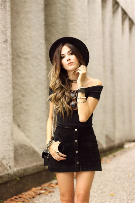 All Black Outfit | Button front skirt Black laces and ...
