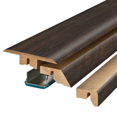 pergo molding pergo molasses maple 3 4 in thick x 2 1 8 in wide x 78 3 4 in length laminate 4 in 1 molding