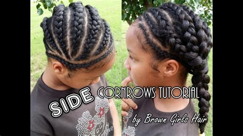 Easy Cornrow Hairstyles by Side Cornrows Tutorial On Hair