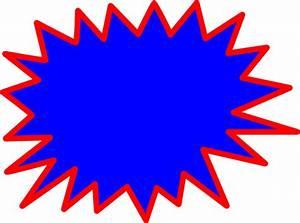 Blue Explosion Blank Pow Clip Art At Vector