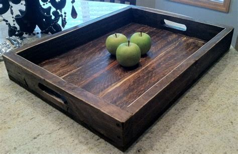 Large Serving Tray For Ottoman by Large Solid Wood Wine Serving Ottoman Tray 22 X 16 Ebay