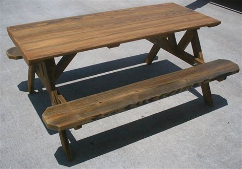 cool picnic table designs cool round cedar picnic table plans