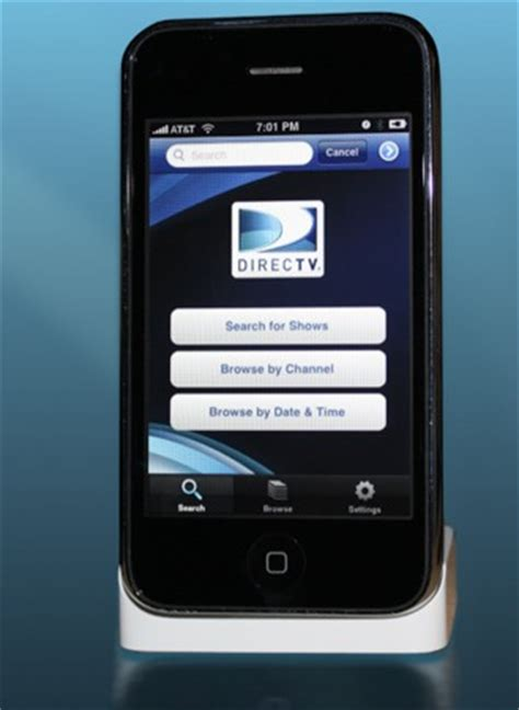 directv app for iphone directv iphone application gets previewed