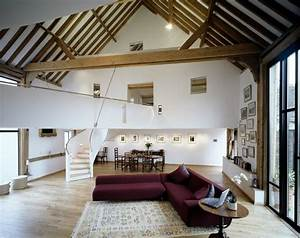 architecturally striking barn conversion in surrey With interior design ideas for barn conversions