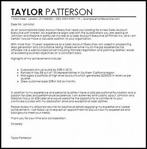 sales account executive cover letter sample cover letter With executive cover letter