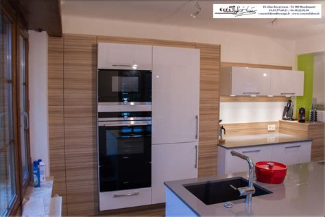 cuisine blanc et grise cuisine gris et bois