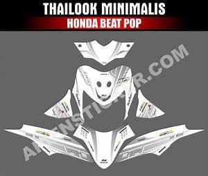 Striping Motor Beat Pop Thailook Minimalis