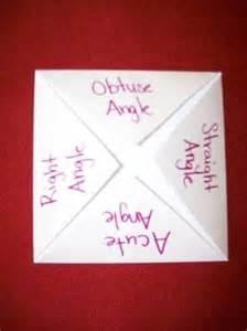 Math Foldables Angles