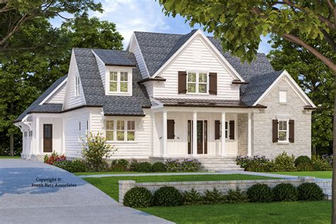 4-bed New American House Plan With Vaulted And Beamed