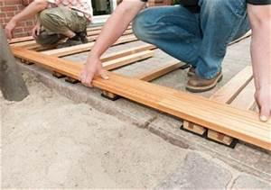 Bau Einer Holzterrasse : terrassendielen unterkonstruktion selber bauen 4 schritt anleitung ~ Sanjose-hotels-ca.com Haus und Dekorationen