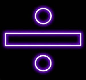 Neon Purple Division Symbol