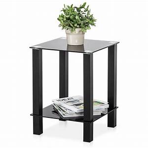 fitueyes desktop tables storage shelf living room With small coffee table with shelf