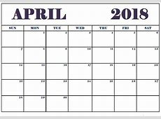 April 2018 Calendar Telugu Printable Template with