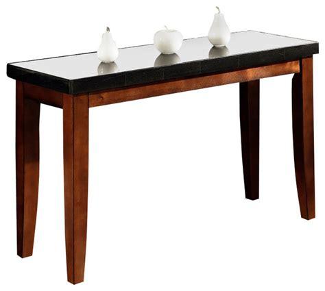 granite bello collection sofa table w black granite top