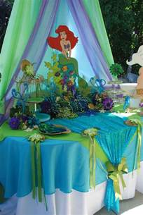 Ariel Little Mermaid Birthday Party Ideas