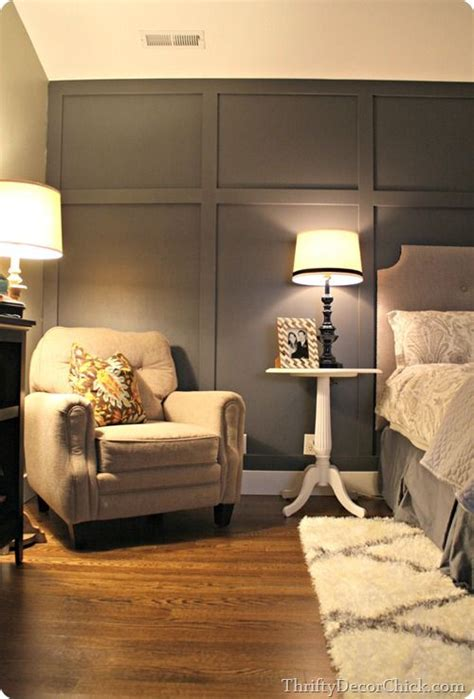dark gray accent wall bedroom wallpaper accent wall