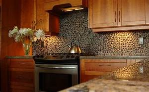 tips on decorating your kitchen using brick backsplash With kitchen cabinets lowes with rolling stones wall art