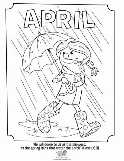 Coloring April Pages Bible Hosea Revelation Month