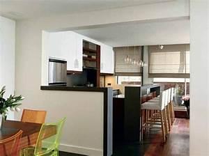 7 cuisines ouvertes bien integrees cuisine semi ouverte With wonderful plan maison en u ouvert 9 cuisine avec verriare